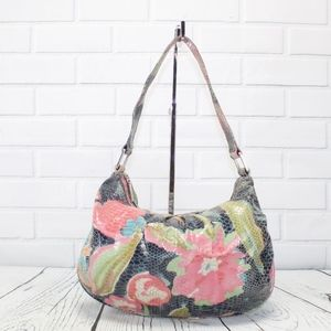 HOBO International Floral Bobo Style Handbag Purse